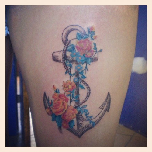 anchors and flowers