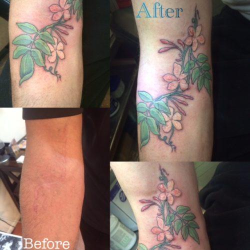 Flower Tattoo, Tina's Ink, Santa Fe Tattoo