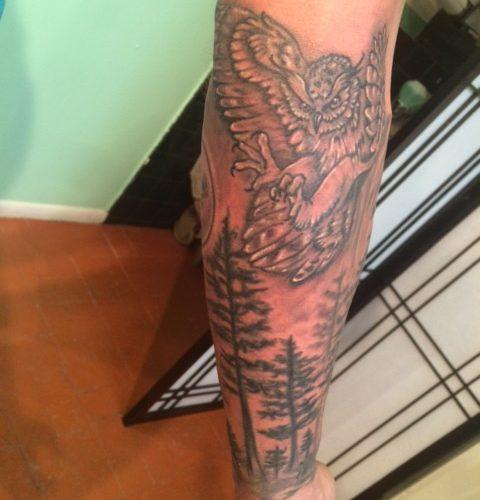 Black and Grey Tattoo, Tina's Ink Santa Fe Tattoo